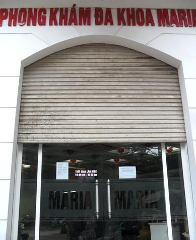 Phòng khám Maria bị đình chỉ hoạt động sau cái chết của bệnh nhân Phong. Ảnh: Nam Phương.