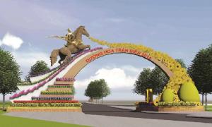 Thánh Gióng cưỡi ngựa thần canh đường hoa Trấn Biên