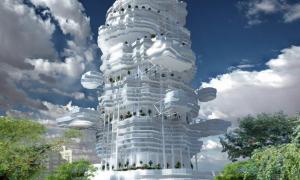 Tòa chung cư có hình đám mây độc nhất vô nhị