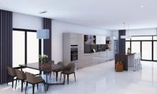 Đưa thiên nhiên vào căn bếp hiện đại trong nhà phố