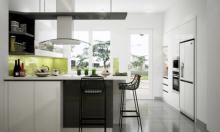 Cách phối màu sắc giúp gian bếp thêm rộng và xanh mát