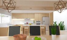Mang vật liệu xanh, thân thiện môi trường vào gian bếp hiện đại