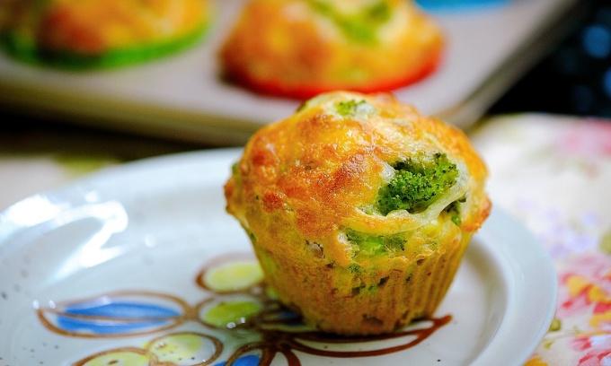 Bánh muffin mặn, bữa sáng đủ chất cho ngày bận rộn