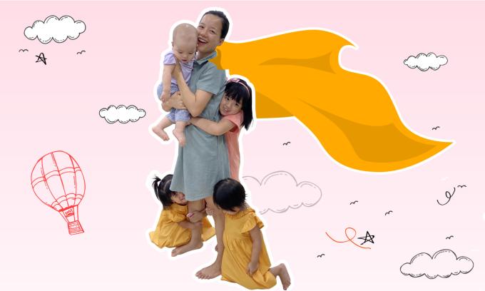 Con gái Minh Trang sáng tác thơ cảm ơn mẹ chăm em ốm