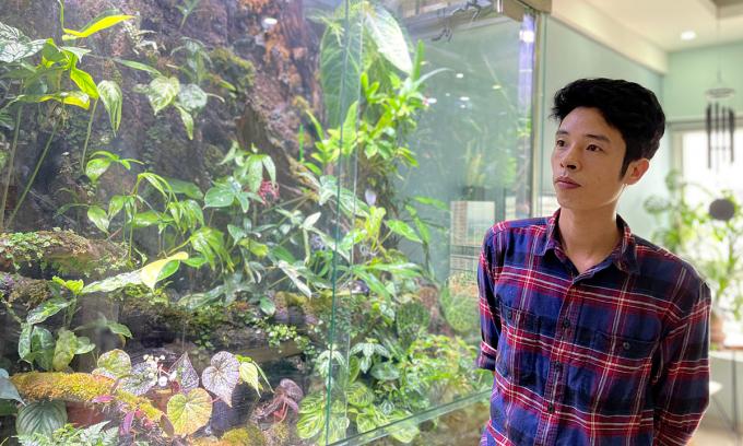 Chàng trai mang 'rừng kiểng lá' vào căn hộ tầng 18