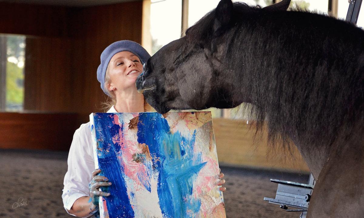 Chú ngựa có tài vẽ tranh