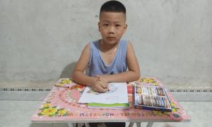 Ông bố trẻ và ước mơ cho đứa con ung thư vào lớp 1