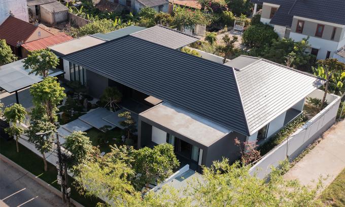 Nhà một tầng giữa khu vườn kiểu Nhật
