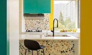 Gợi ý những mẫu bếp sử dụng đá terrazzo